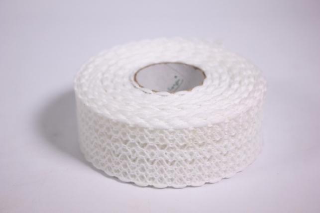 Лента тканная 4см*10м - Кружево - Белый (Код 224167 П)