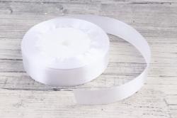 Лента тканная атласная 19мм*25Y Белая F014-19/01  МН
