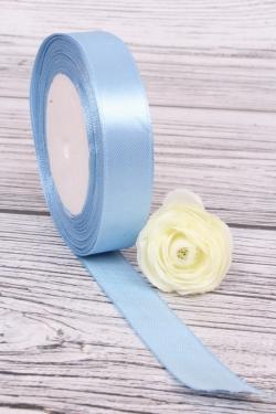 Лента тканная атласная 19мм*25Y Голубой F014-19/20   МН