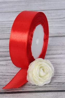 Лента тканная атласная 25мм*25Y Красный F014-25/26  МН
