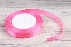 Лента тканная атласная 12мм*25Y Розовый F014-12/05  МН