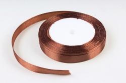 Лента тканная атласная 12мм*25Y Шоколад F014-12/32  МН