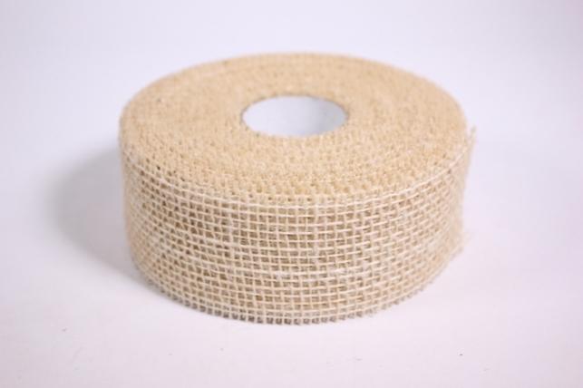 Лента тканная Мешковина 5*10м - Натуральная (Код 221014)