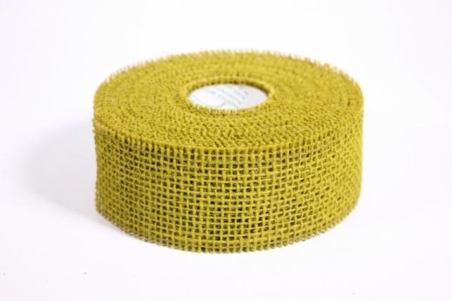Лента тканная Мешковина 5*10м - Оливковая (Код 221014)