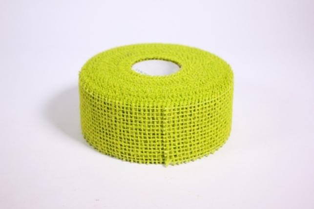 Лента тканная Мешковина 5*10м - Салатовая (Код 221014)