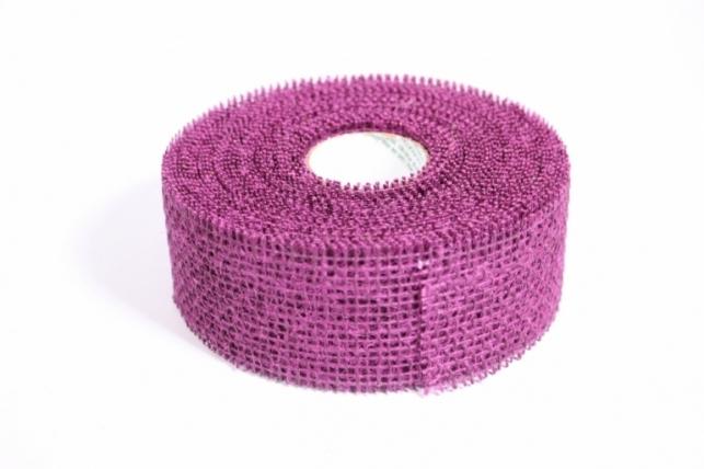 Лента тканная Мешковина 5*10м - Слива (Код 221014)