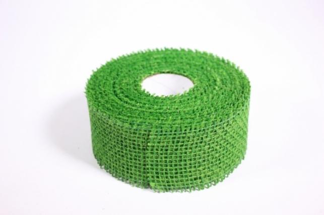 Лента тканная Мешковина 5*10м - Зелёная (Код 221014)