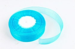Лента тканная органза 25мм*50Y Бирюза  F014-50/BK15-25