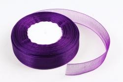 Лента тканная органза 25мм*50Y Фиолетовый  F014-45/1035-25