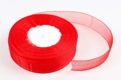 Лента тканная органза 25мм*50Y Красный  F014-43/1026-25
