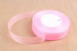 Лента тканная органза 25мм*50Y Розовый  F014-39/1005-25