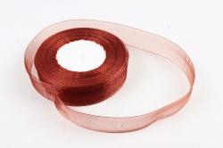 Лента тканная органза 25мм*50Y Шоколад  F014-49/BK05-25