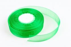 Лента тканная органза 25мм*50Y Зеленый  F014-42/1019-25