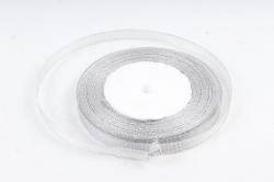 Лента тканная серебрянная 10мм*25 ярдов  RS10/25  МН
