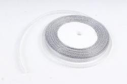Лента тканная серебрянная 7мм*25 ярдов  RS7/25  МН