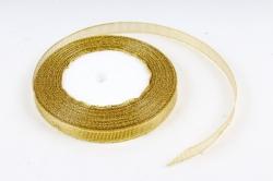 Лента тканная золотая 10мм*25 ярдов RG10/25 МН