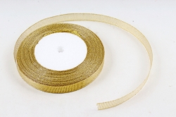 Лента тканная золотая 13мм*25 ярдов RG13/25 МН