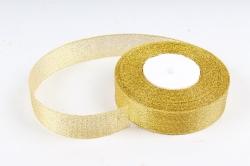 Лента тканная золотая 25мм*25 ярдов  RG25/25  МН