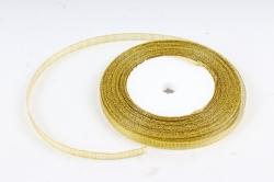 Лента тканная золотая 7мм*25 ярдов  RG7/25  МН