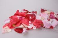 Лепестки Роз (микс цветов розовый, белый, красный, кремовый) в пакете