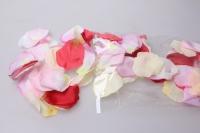 Лепестки Роз (микс цветов розовый,красный,кремовый) в пакете