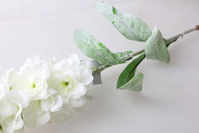 левкой белый  80см - цветы искусственные