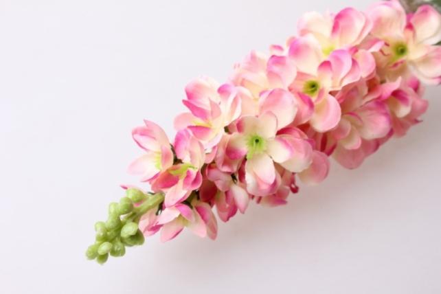 левкой персиково/малиновый  80см - цветы искусственные