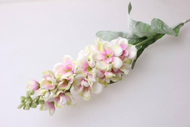 левкой розово/персиковый 80см - цветы искусственные