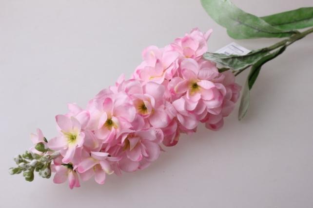 левкой розовый  80см - цветы искусственные