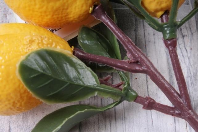 Лимон на ветке из 3шт
