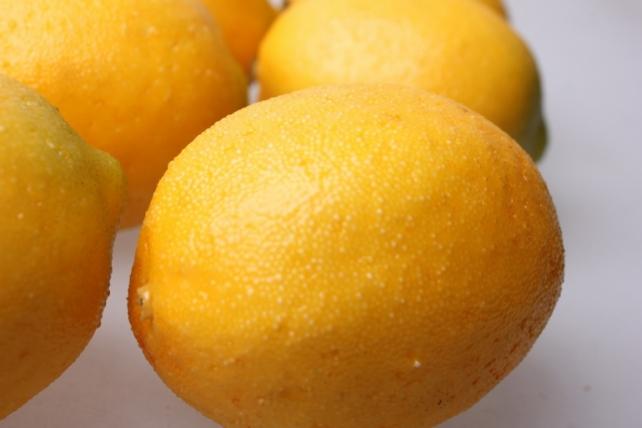 искусственные фрукты лимоны искусственные  5*7см  (6 шт) 7663