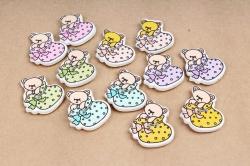 Липучка  Мишки младенцы (12 шт/уп)  2770