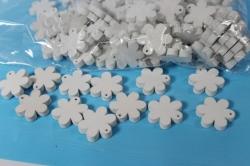 липучки декоративные - цветочки дерево - белые 3см (100шт) - код 9037-1