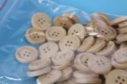 липучки декоративные - пуговицы дерево натуральные 1,8см (100шт) - код 8271