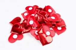 Липучки сердца 3,5 см по 30 шт  текстиль H1904035 RED  6775