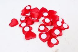 Липучки сердца 2 см по 30 шт  текстиль H1904034 RED  6744