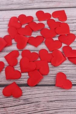 Липучки сердце текстиль 3,5 см ( 30 шт/уп)  H1904032 RED