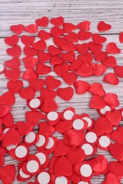 Липучки сердце текстиль 4 см ( 144 шт/уп)  TL333B