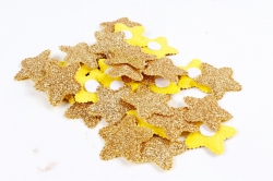 Липучки звездочки золото 3,5 см 30 шт текстиль H1904036 GOLD 6805
