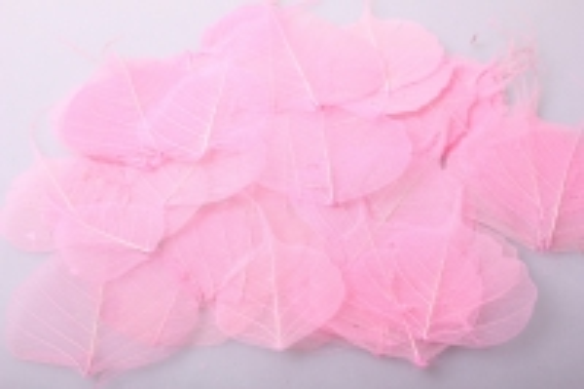 листья скелетизированные 9х9см (50шт) розовый