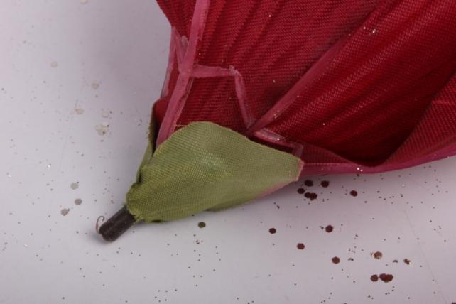 магнолия цветок-бутон бордовый с блестками (12шт в уп)  fme071722