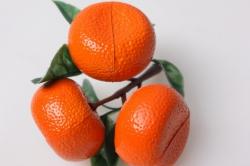 мандарины крупные искусственные на ветке