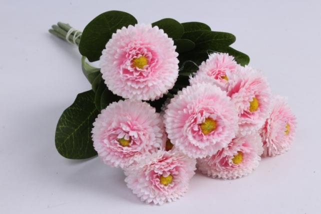 маргаритка 30 см розовая (7шт в уп) sun461