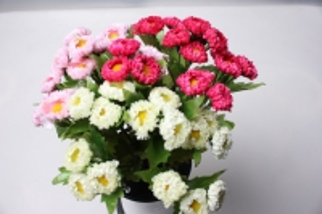 маргаритка белая (букетик) 20см - искусственные растения