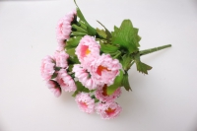 Маргаритка розовая (букетик) 20см - искусственные растения