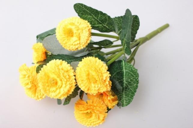 Маргаритка яркая желтая букет 30см