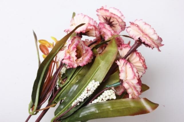 маргаритки пастель розово/шампань букет 30см