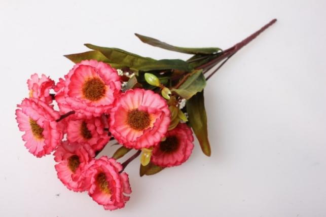 маргаритки пастель темно-розовая букет 30см