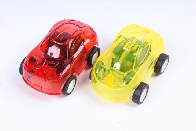 Машинка прозрачная 4,5см цвета в ассортименте (1шт)