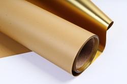 Материал флористическая пленка с золотом, 60 см х 5 м, Коричневый (М)